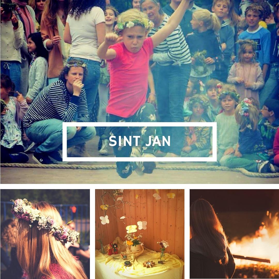 Over het vuur springen met Sint Jan