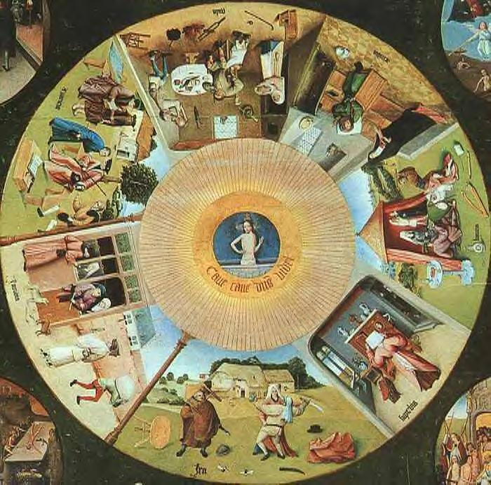 Jheronimus Bosch, De Zeven Hoofdzonden, Vastentijd